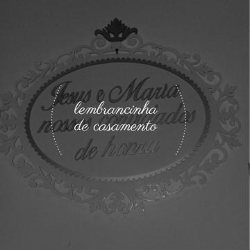 Placa para entrada de pajem ou Daminha