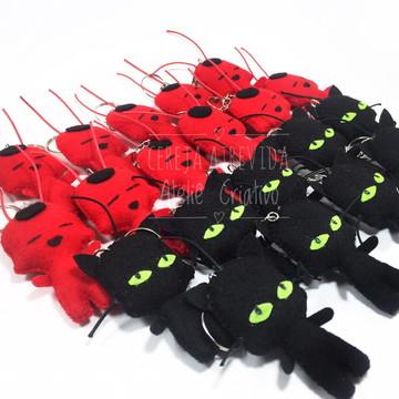 Chaveiros Ladybug - Plagg ou Tikki