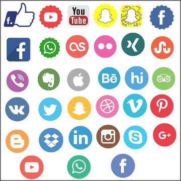 Vetores Redes Sociais CDR, EPS, Ai e PNG (33 Vetores)
