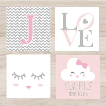Placas Decorativas Bebe Letra, Love, Seja Feliz, Cilios