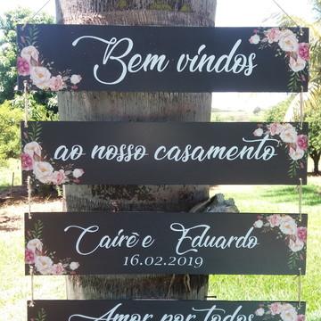 Placas indicativas Casamento