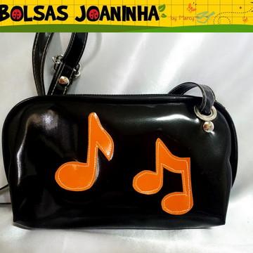 Lembrancinha Bolsa tema Música Notas Musicais
