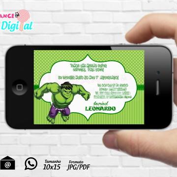 Convite Digital Hulk