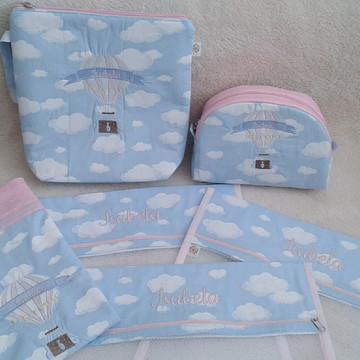 Kit saquinho maternidade+2 necessaires+Saquinho Impermeavel
