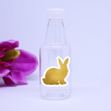 Garrafinha de plástico - foil - coelho