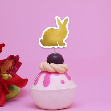 Topper para doces – foil - coelho