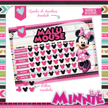 Quadro de Incentivos - Minnie