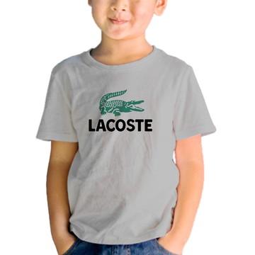 760eb5890e9 Camiseta Lacoste Feminina Branca com Bordado