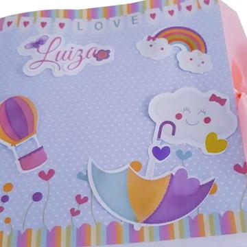 Caixa de recordações do bebê chuva de bençao