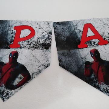 Faixa Parabens DeadPool personalizada