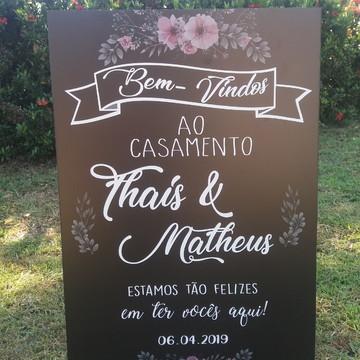 Placa Chalkboard Casamento 60x40