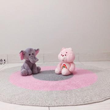 Tapete infantil - cinza e rosa