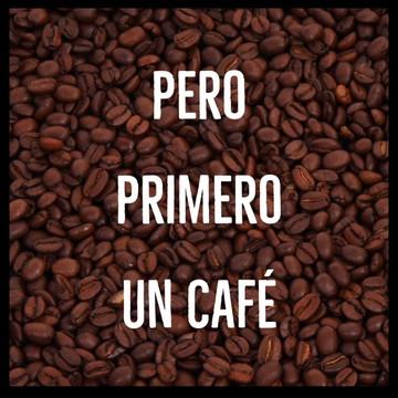 Quadro primeiro um café