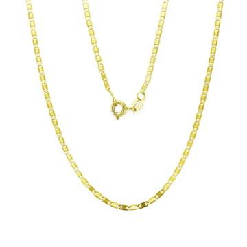 Corrente Piastrine feminina de 45cm em Ouro 18k