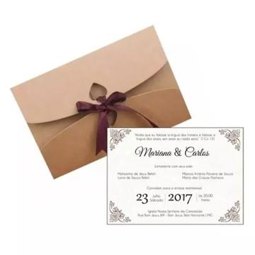50 Envelope +50 Convite Casamento Noivado Personalizado