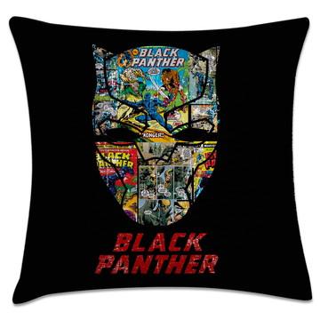 capa de almofada herói pantera negra