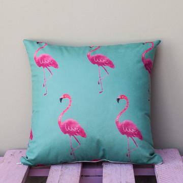 Capa de Almofada Decorativa Flamingo