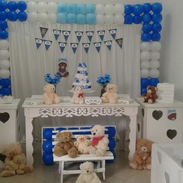 Aluguel decoração chá de bebe ursinhos Menino