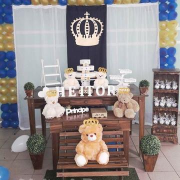 Chá de bebê Coroa Menino