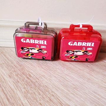 kit maletinha com massinha de modelar os incríveis