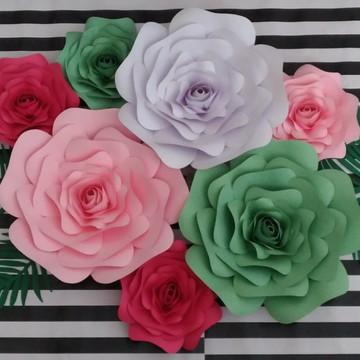 1 unid flores papel 25 cm monte você mesma a decoração fest