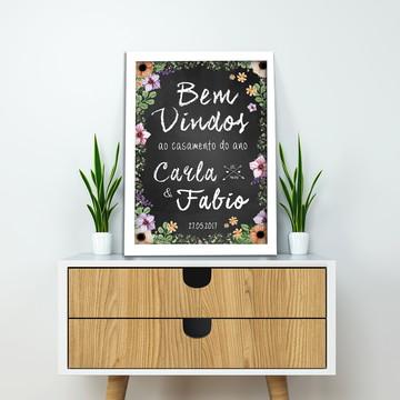 Quadro Chalkboard para Casamento