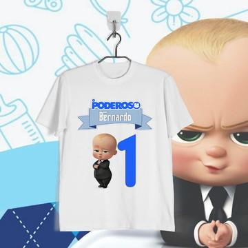 Camiseta Infantil Personalizada Poderoso Chefinho