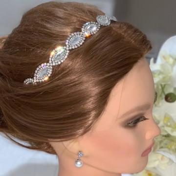 Tiara de Noiva de Cristais