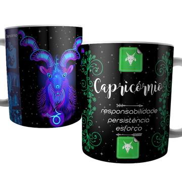 Caneca Signo de Capricórnio - Signos do Zodíaco - Astrologia
