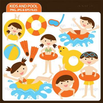 Cliparts Pool Party Babystar 14