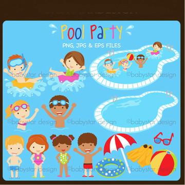 Cliparts Pool Party Babystar 174