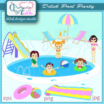 Cliparts Pool Party Dilek 16