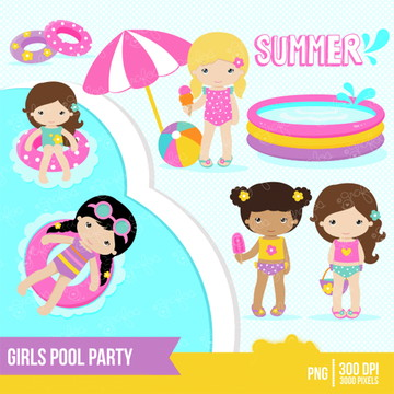 Cliparts Pool Party GRA 163