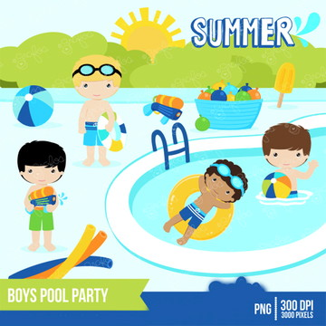Cliparts Pool Party GRA 166