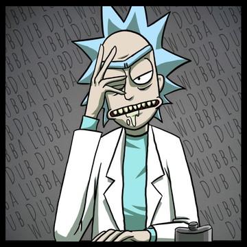 Quadro Wubba Lubba Dub Dub - Por Rick and Morty