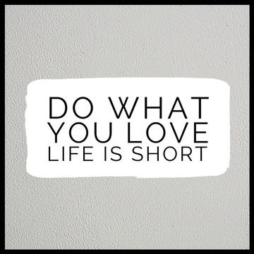 Quadro a vida é curta