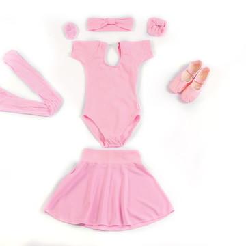 6d268d19da Kit Ballet Ballet Infantil Completo Rosa Tamanhos do 4 ao 14