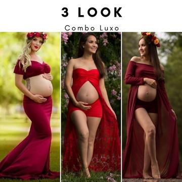 Vestido Ensaio Gestante Luxo, Foto Gravida #EnsaioGestante