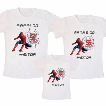 Kit camiseta aniversario homem aranha