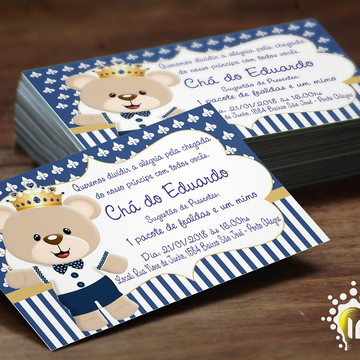 Convite Digital - Convite Ursinho Príncipe