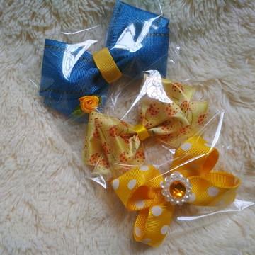 Kit Max Laço Pet Amarelo