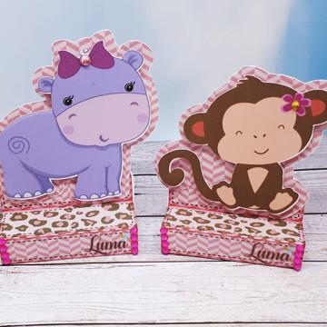Chocolate duplo tema Safari Menina