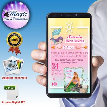 Convite Digital Whatsapp - Sereia