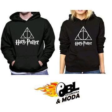 Moletom canguru Harry Potter (preto )