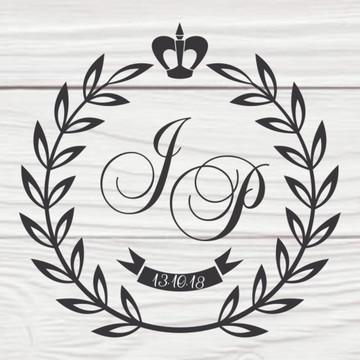 Monograma Brasão Casamento Personalizado