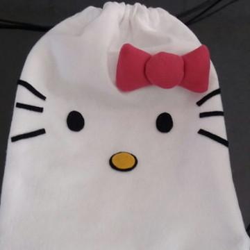 Mochila Hello Kitty em feltro