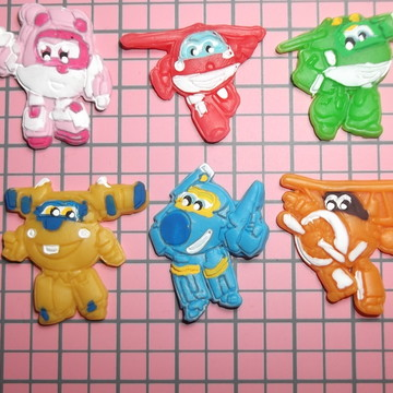 Mini apliques Super Wings em biscuit