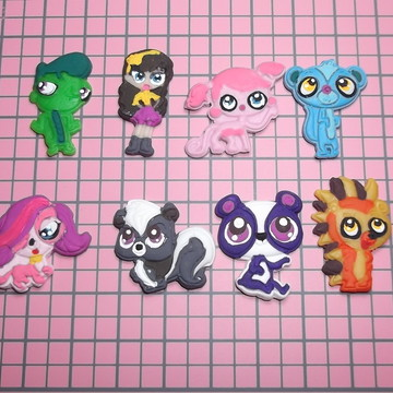 Mini apliques Littlest Pet Shop / LPS em biscuit