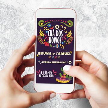 Convite Digital Chá dos Noivos Mexicano