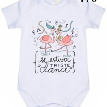 Body Bebê Personalizado Flamingos #470
